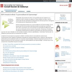 """XXIV Jornada de reflexió: """"La personalització de l'aprenentatge"""" - Consescat"""