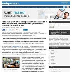 Horizon Report 2015, en español: Personalización y analítica de datos, tenden...