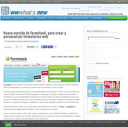 Nueva versión de Formstack, para crear y personalizar formularios web