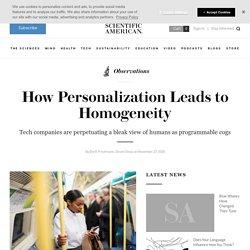 How Personalization Leads to Homogeneity