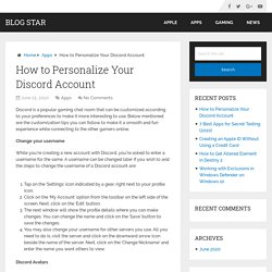How to Personalize Your Discord Account – Blog Star
