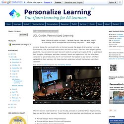 UDL Guides Personalized Learning