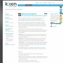 Personalize Your Content : KXEN, Inc.