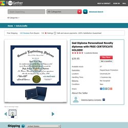 Buy Personalized Ged Diploma with Free Certificate Holder Online at Best Price