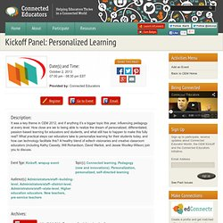Kickoff Panel: Personalized Learning