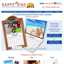 Get Make Personalized & Customized Photo Wall Calendar Online