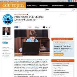 Personalized PBL: Student-Designed Learning