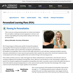Personalized Learning Plans (PLPs)