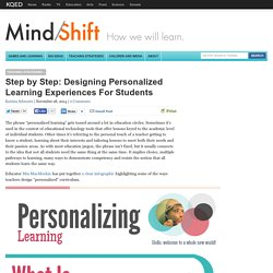 Step by Step: Designing Personalized Learning Experiences For Students