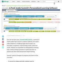 A Peek Inside Summit's Personalized Learning Software
