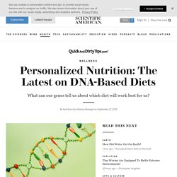 Personalized Nutrition: The Latest on DNA-Based Diets
