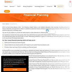 Personalized Financial Planning, Weath Planning Services Online - PersonalFN