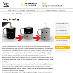 Personalized Coffee Mug Printing in Gurgaon