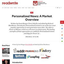 Personalized News: A Market Overview