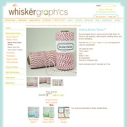 Red Bakers Twine Personalized Stationery, Printables & Divine Twine
