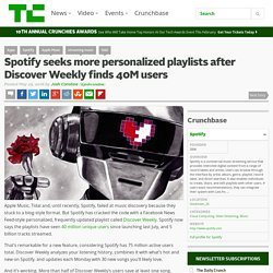 Spotify seeks more personalized playlists after Discover Weekly finds 40M users