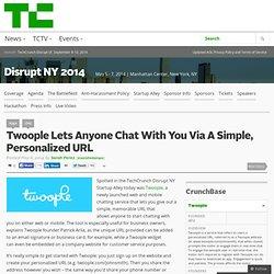 Twoople. Chat online flexible con URL personalizable para atención al cliente