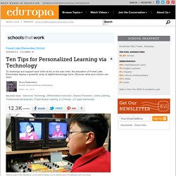 Ten Tips for Personalized Learning via Technology