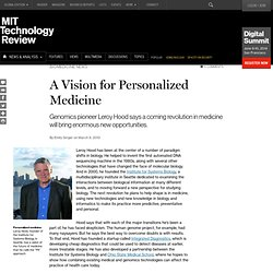 A Vision for Personalized Medicine