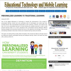 Personalized Learning Vs Traditional Learning
