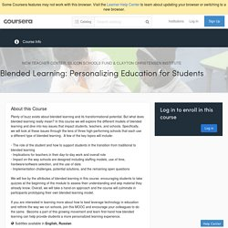 Blended Learning: Personalizing Education for Students