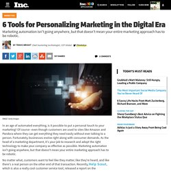 6 Tools for Personalizing Marketing in the Digital Era