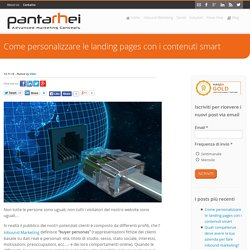 Come personalizzare le landing pages con i contenuti smart