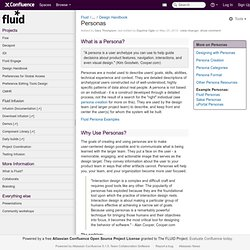 Personas - Fluid Project Wiki