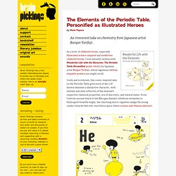 The Elements of the Periodic Table, Personified as Illustrated Heroes