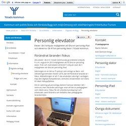 Personlig elevdator - Ystads kommun