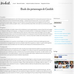 Etude des personnages de Candide - Candide de Voltaire