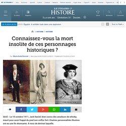 Connaissez-vous la mort insolite de ces personnages historiques ?