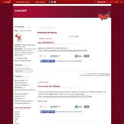 Schémas de bijoux - chez FLYBLOG... - Les secrets du… - les schémas de… - le blog de peetje - lien vers un blog… - un site de schémas… - personnages et… - qu'est ce que le… - un blog hongrois - vers des schémas… - Le blog de Delphine