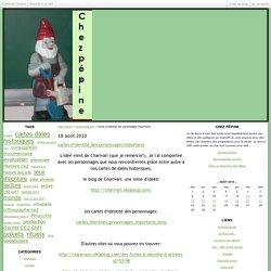 cartes d'identité des personnages importants - Chez Pépine