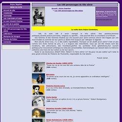 Les 100 personnages du XXe siècle : Anjou Segréen