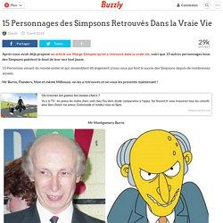 15 Personnages des Simpsons Retrouvés Dans la Vraie Vie