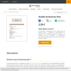 Modèle type de business plan personnalisable à télécharger