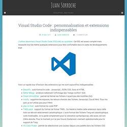 Visual Studio Code : personnalisation et extensions indispensables - Juan Sorroche