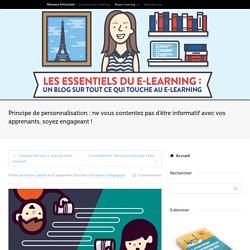 Principe de personnalisation : comment l'appliquer au e-learning
