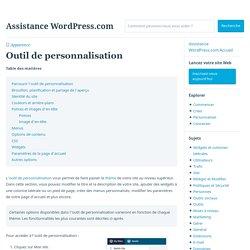 Outil de personnalisation – Assistance WordPress.com