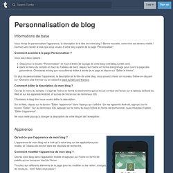 Personnalisation de blog