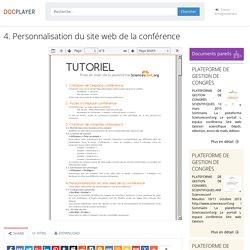 4. Personnalisation du site web de la conférence - PDF