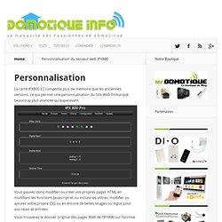 Personnalisation du serveur web IPX800