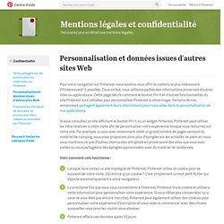 Personnalisation et données issues d'autres sites Web
