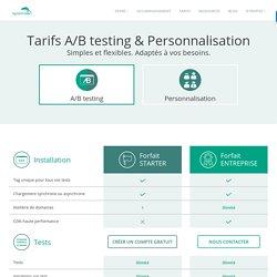 Plans et tarifs A/B testing et Personnalisation