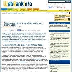 Personnalisation des résultats Google pour tous les utilisateurs