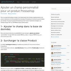 Ajouter un champ personnalisé pour un produit Prestashop - geraudlacheny.fr