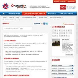 Le CIF-CDD - Votre projet personnalisé d'accès à l'emploi
