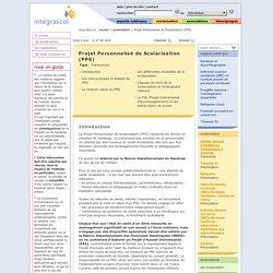 Fiche Projet Personnalisé de Scolarisation (PPS)
