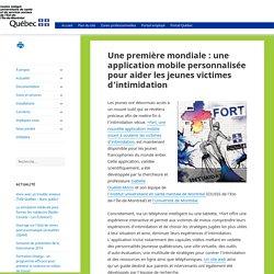 Une première mondiale : une application mobile personnalisée pour aider les jeunes victimes d'intimidation – CIUSSS de l'Est-de-l'Île-de-Montréal